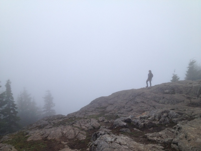 Me on a foggy hike