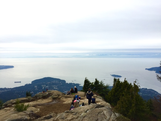 Eagle Bluffs hikers, viewpoint