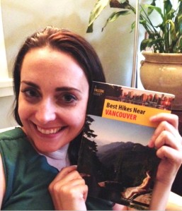 Not my best photo but here I am thrilled to get my copy of Chloë's book. That's me on the cover!