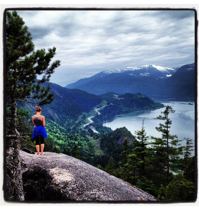 hiking, west coast, vancouver, view, mountains, upper shannon falls, howe sound