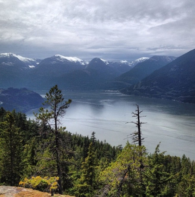 view, hiking, howe sound, upper shannon falls, vancouver, west coast